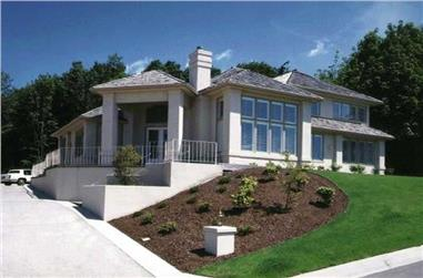 4-Bedroom, 4052 Sq Ft Contemporary Home Plan - 149-1452 - Main Exterior