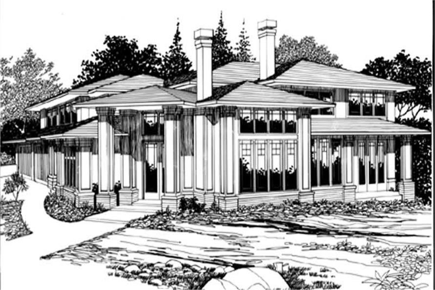 Main Elevation of this 4-Bedroom,4052 Sq Ft Plan -4052