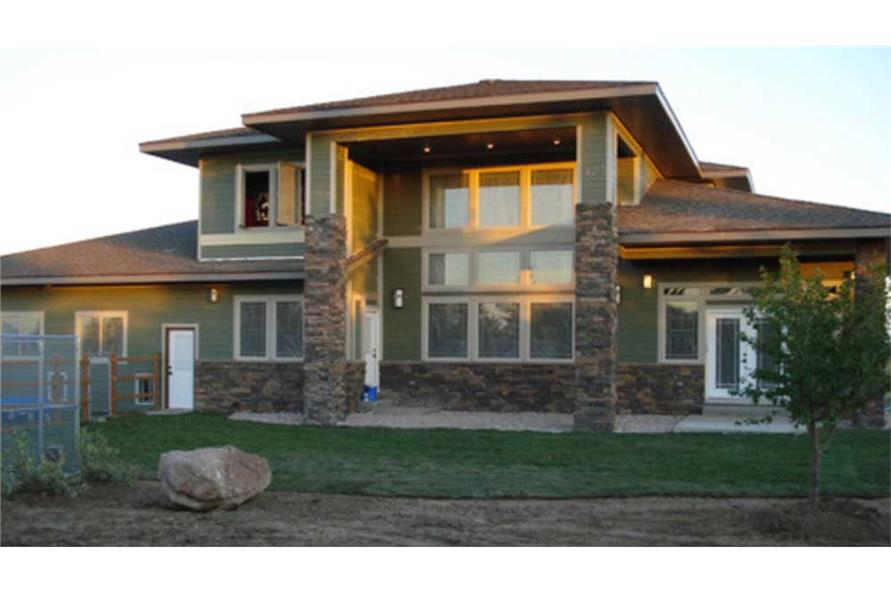 Home Plan Rear Elevation of this 3-Bedroom,4455 Sq Ft Plan -149-1454
