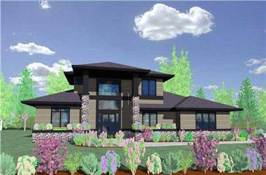 3-Bedroom, 4455 Sq Ft Craftsman House Plan - 149-1454 - Front Exterior