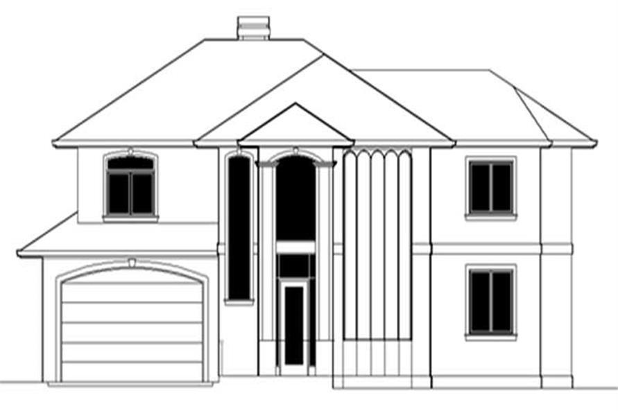 4-Bedroom, 3382 Sq Ft Feng Shui Home Plan - 149-1458 - Main Exterior