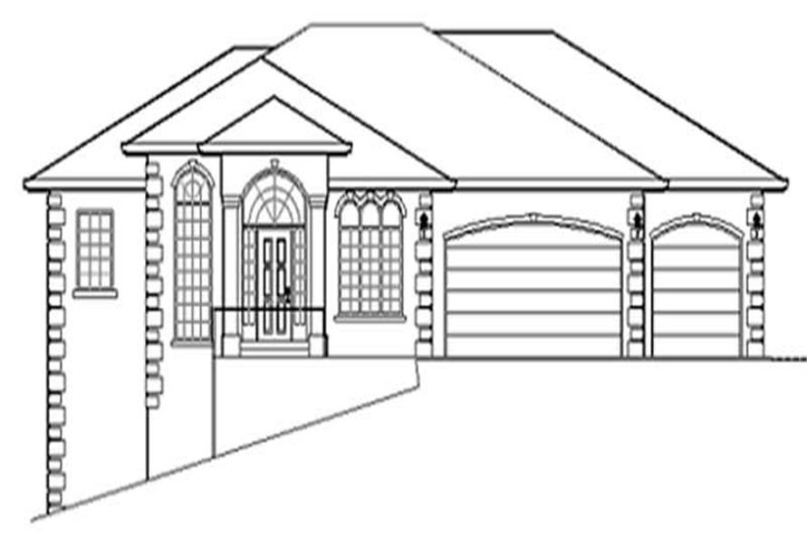 4-Bedroom, 3375 Sq Ft Ranch Home Plan - 149-1459 - Main Exterior
