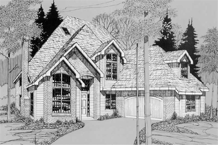 Home Plan Rendering of this 4-Bedroom,2707 Sq Ft Plan -149-1465