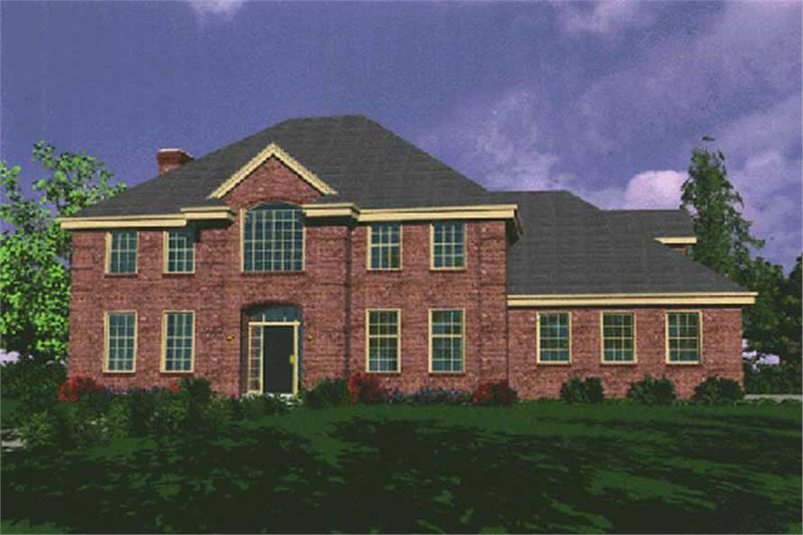 4-Bedroom, 3120 Sq Ft Traditional Home Plan - 149-1468 - Main Exterior