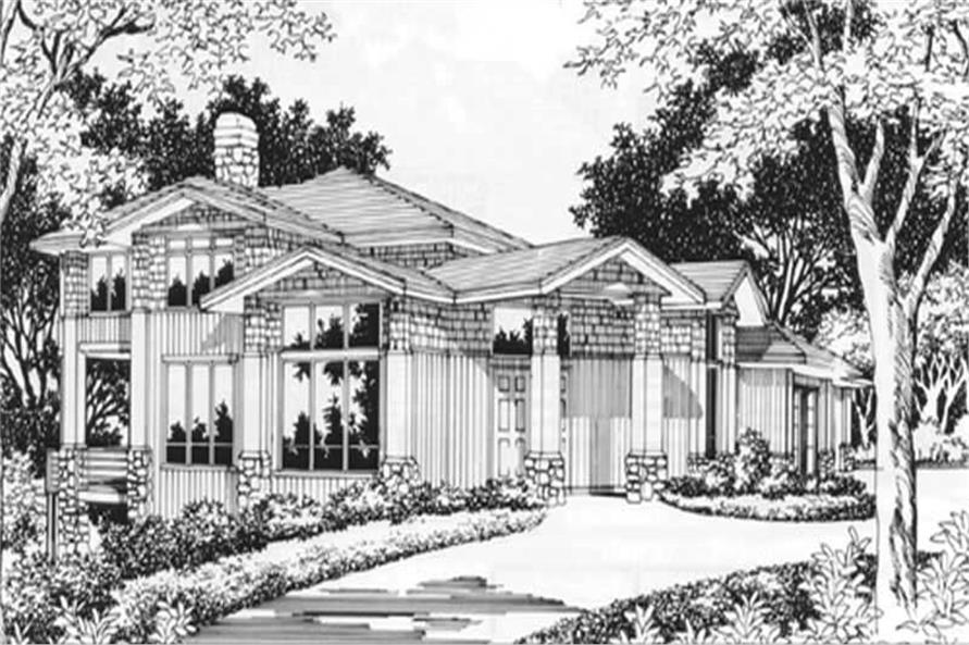 4-Bedroom, 3093 Sq Ft Craftsman Home Plan - 149-1471 - Main Exterior