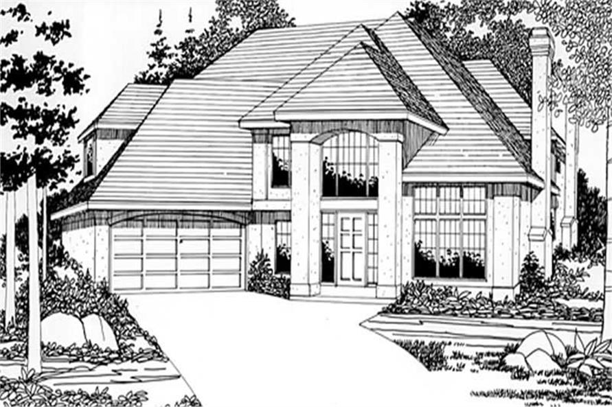3-Bedroom, 3086 Sq Ft Contemporary Home Plan - 149-1474 - Main Exterior