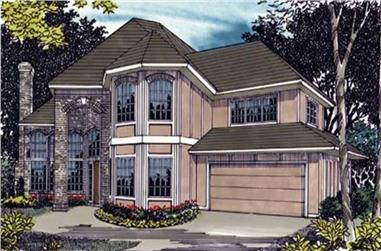 4-Bedroom, 3075 Sq Ft European Home Plan - 149-1477 - Main Exterior