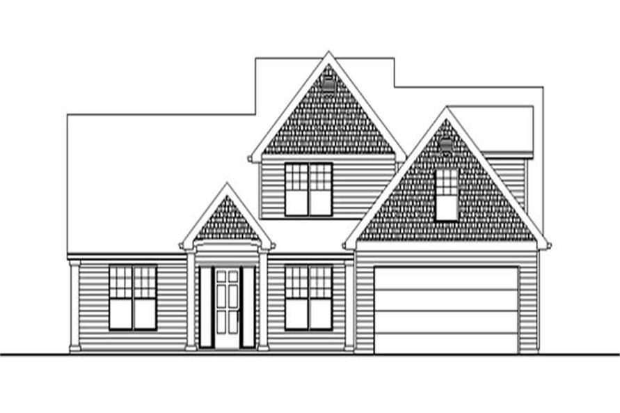 3-Bedroom, 3053 Sq Ft Country Home Plan - 149-1480 - Main Exterior