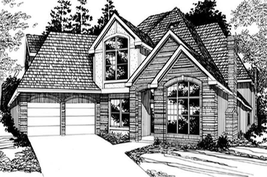 Home Plan Rendering of this 4-Bedroom,3087 Sq Ft Plan -149-1484