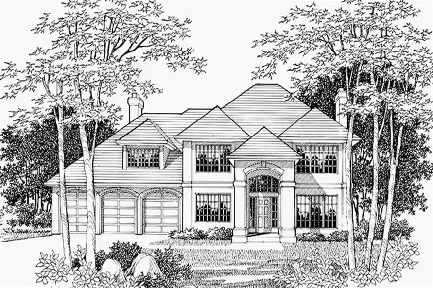 Home Plan Rendering of this 4-Bedroom,2684 Sq Ft Plan -149-1487