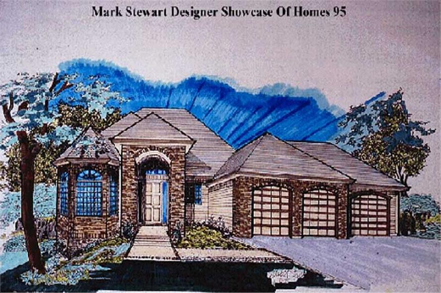 4-Bedroom, 1679 Sq Ft European Home Plan - 149-1492 - Main Exterior
