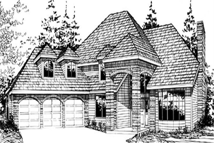Main image for house plan # 2408