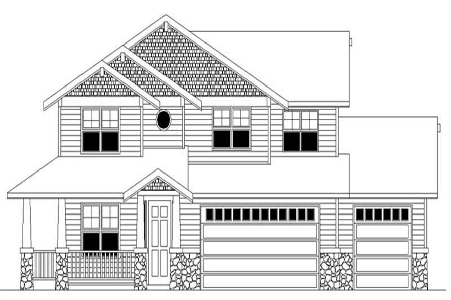 Home Plan Rendering of this 4-Bedroom,2463 Sq Ft Plan -149-1494