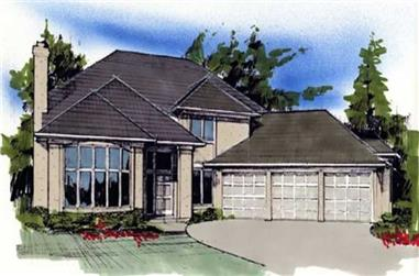 4-Bedroom, 3435 Sq Ft European Home Plan - 149-1495 - Main Exterior