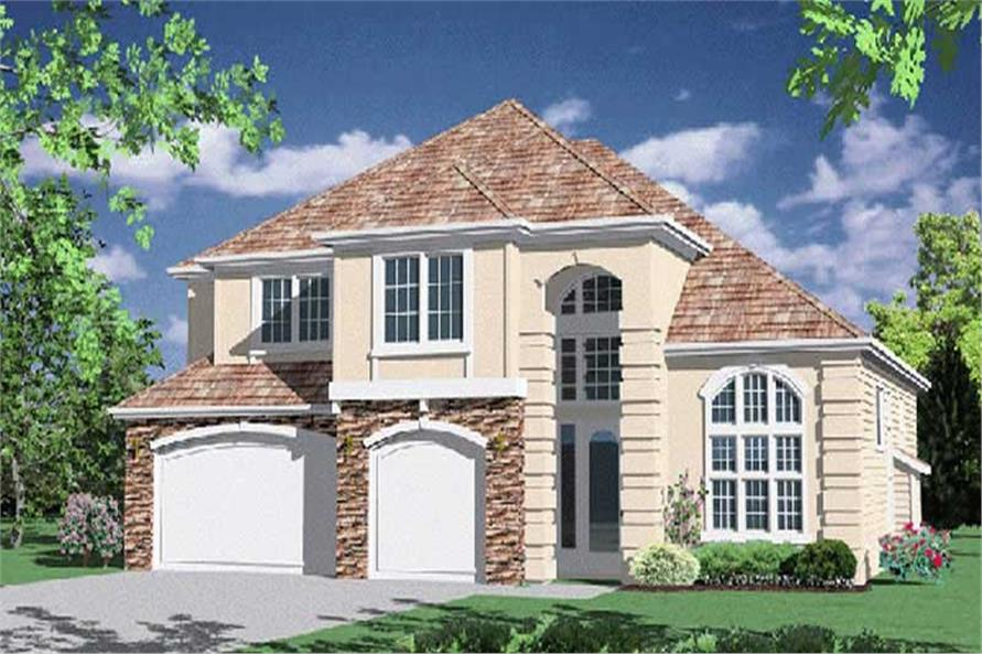 4-Bedroom, 3212 Sq Ft French Home Plan - 149-1496 - Main Exterior
