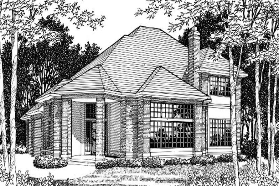 Home Plan Rendering of this 4-Bedroom,3198 Sq Ft Plan -149-1499