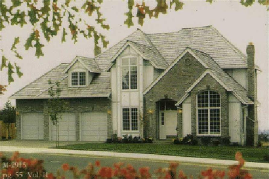 Exterior Detail of this 4-Bedroom,3183 Sq Ft Plan -3183