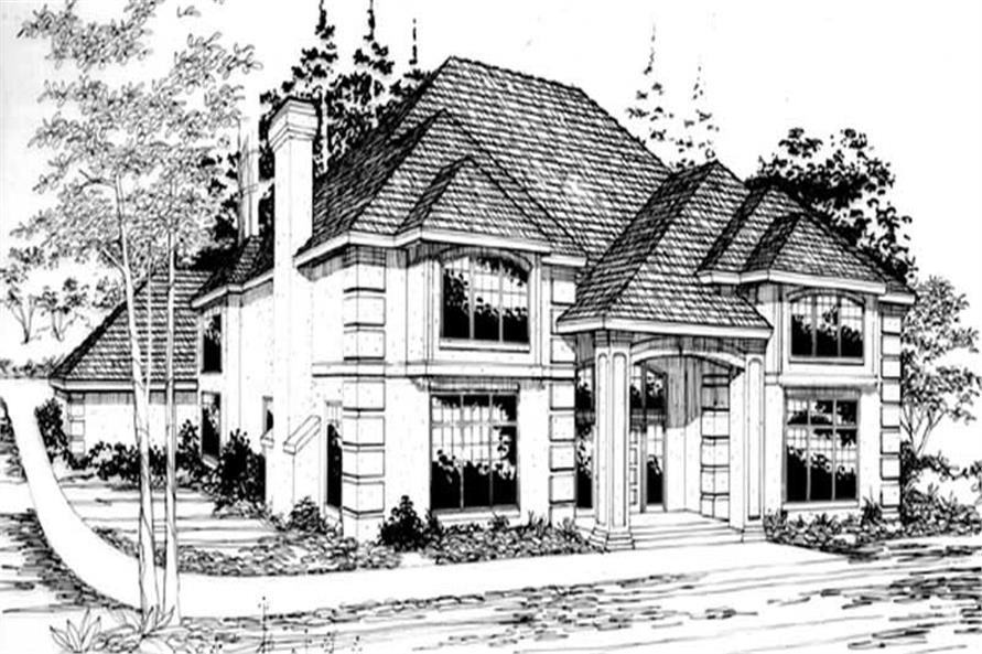 4-Bedroom, 3138 Sq Ft European Home Plan - 149-1505 - Main Exterior