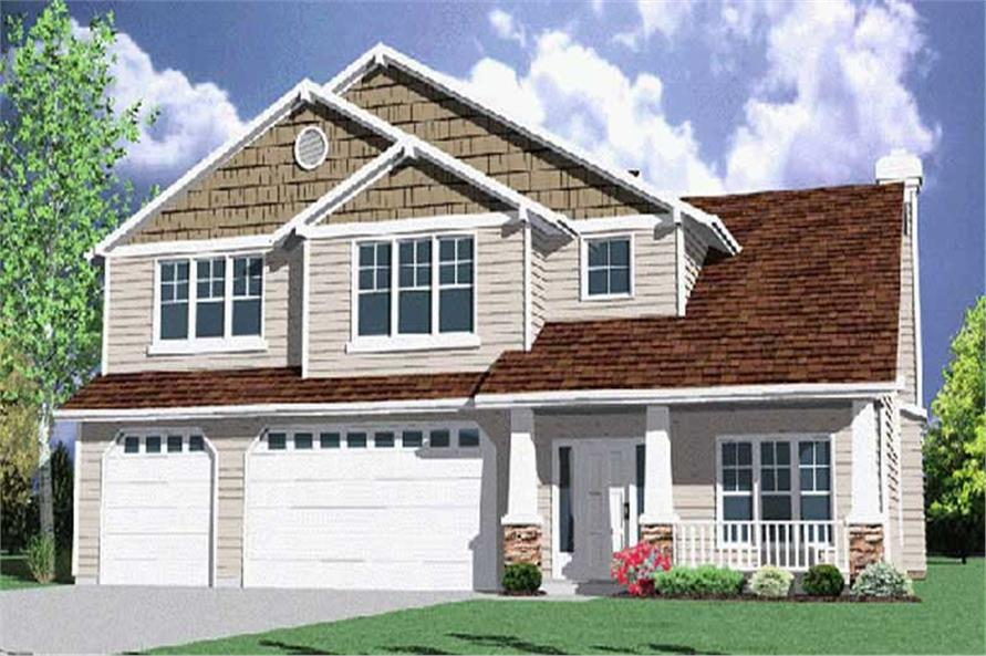 4-Bedroom, 3175 Sq Ft Country Home Plan - 149-1506 - Main Exterior