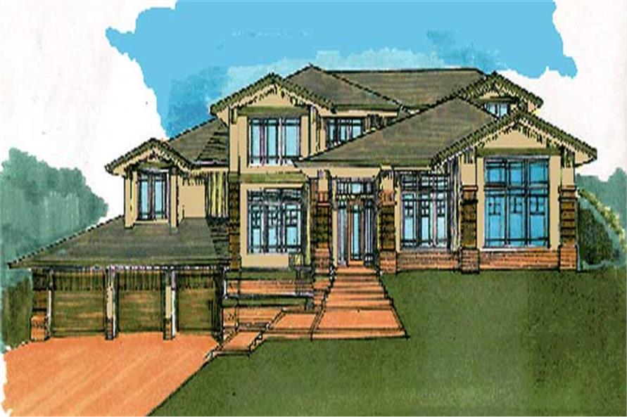 4-Bedroom, 3162 Sq Ft Craftsman Home Plan - 149-1508 - Main Exterior