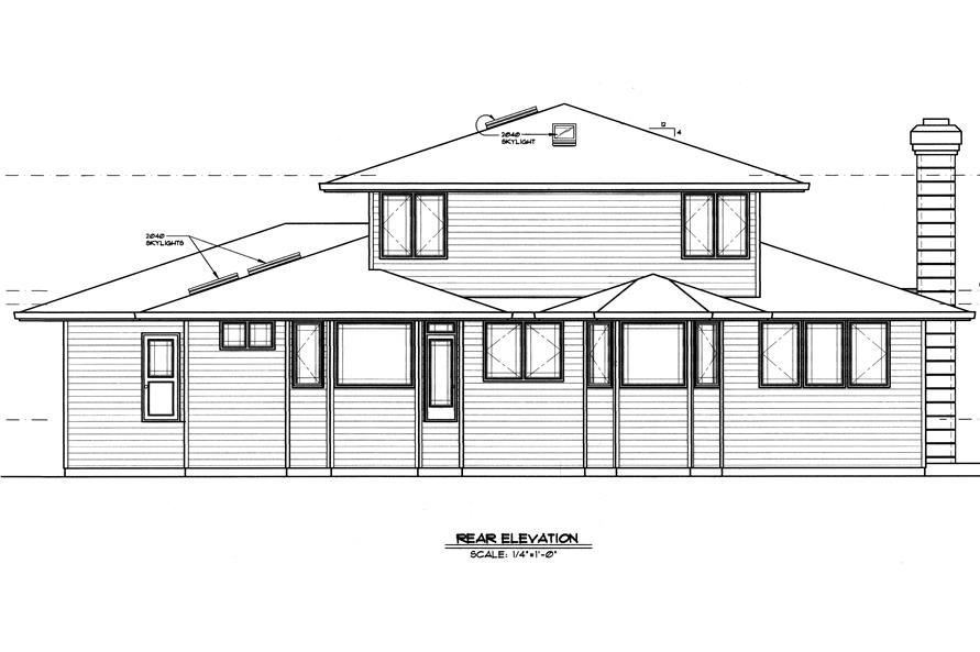 149-1509 house plan rear
