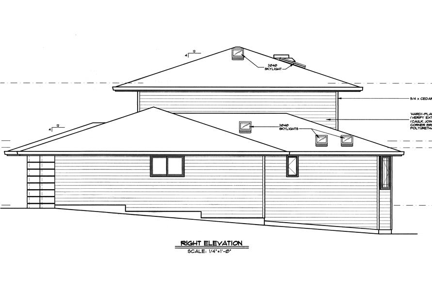 149-1509 house plan right elevation