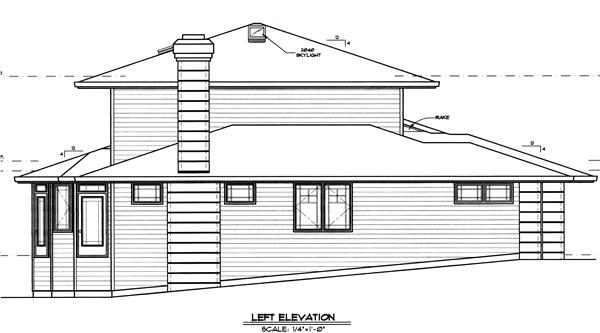149-1509 house plan left elevation