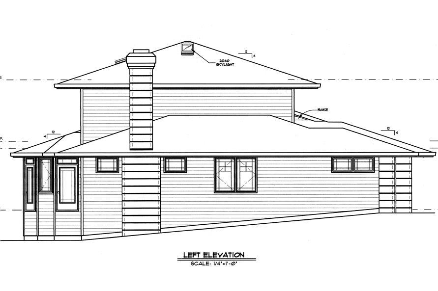 149-1509 house plan left elevation