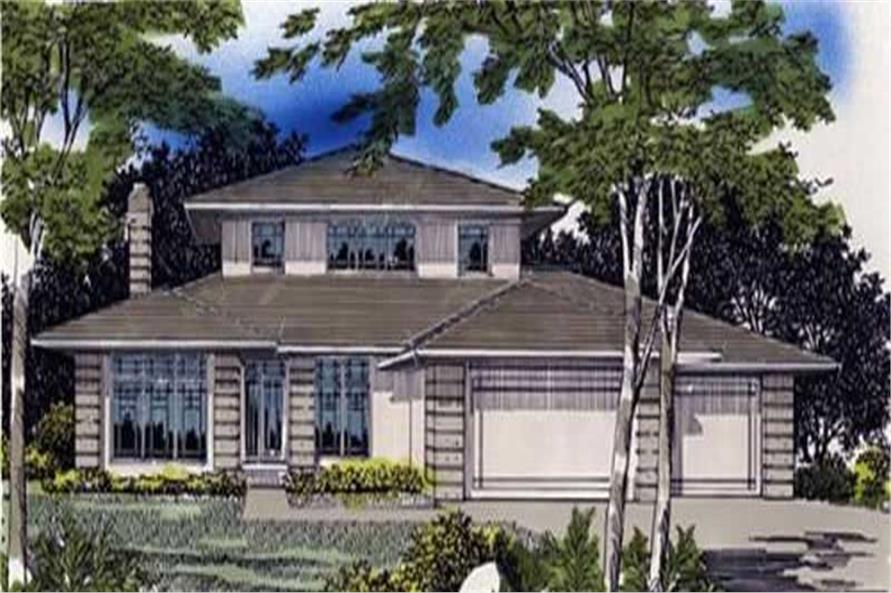 4-Bedroom, 3162 Sq Ft Feng Shui Home Plan - 149-1509 - Main Exterior