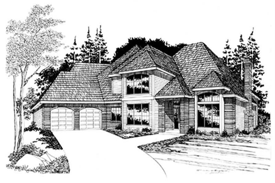 4-Bedroom, 2935 Sq Ft European Home Plan - 149-1510 - Main Exterior