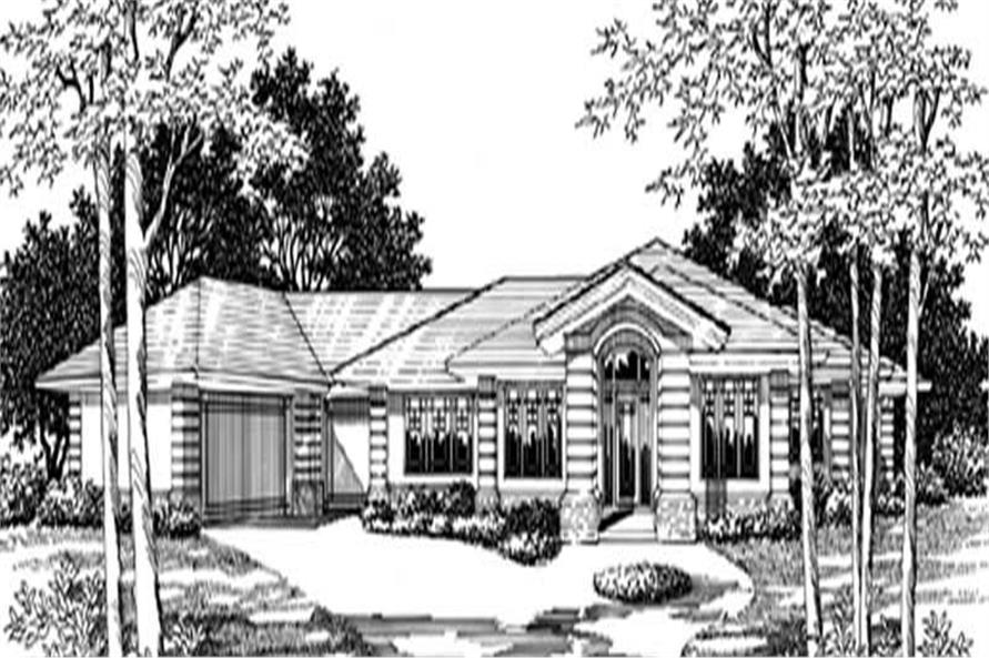 Main Elevation of this 4-Bedroom,3152 Sq Ft Plan -3152