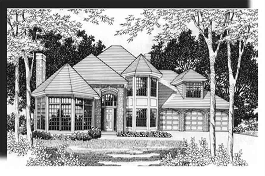 4-Bedroom, 3152 Sq Ft Country Home Plan - 149-1513 - Main Exterior