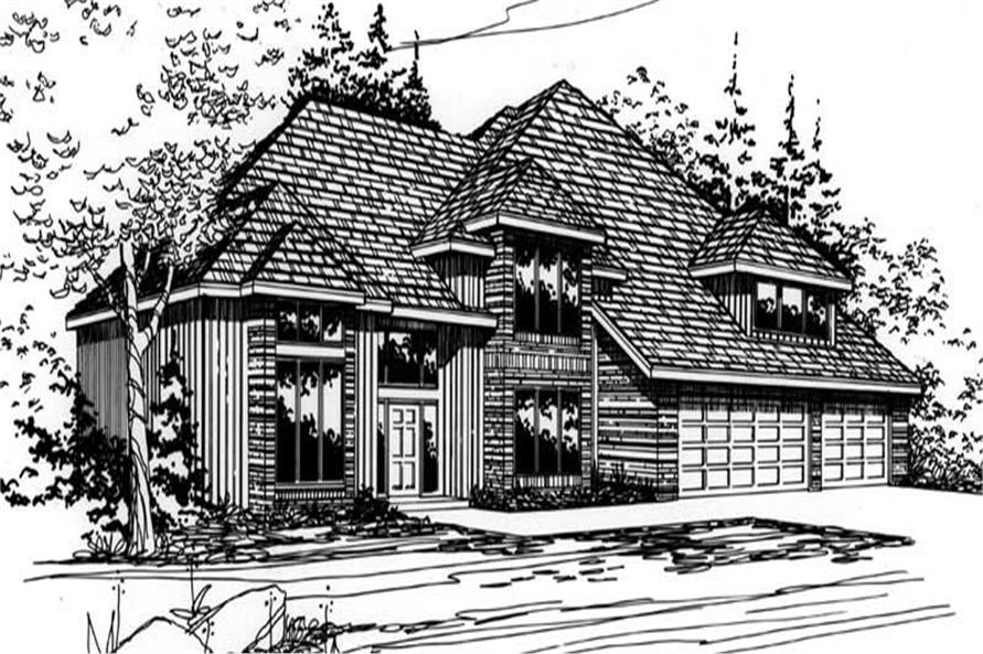4-Bedroom, 2940 Sq Ft Contemporary Home Plan - 149-1515 - Main Exterior