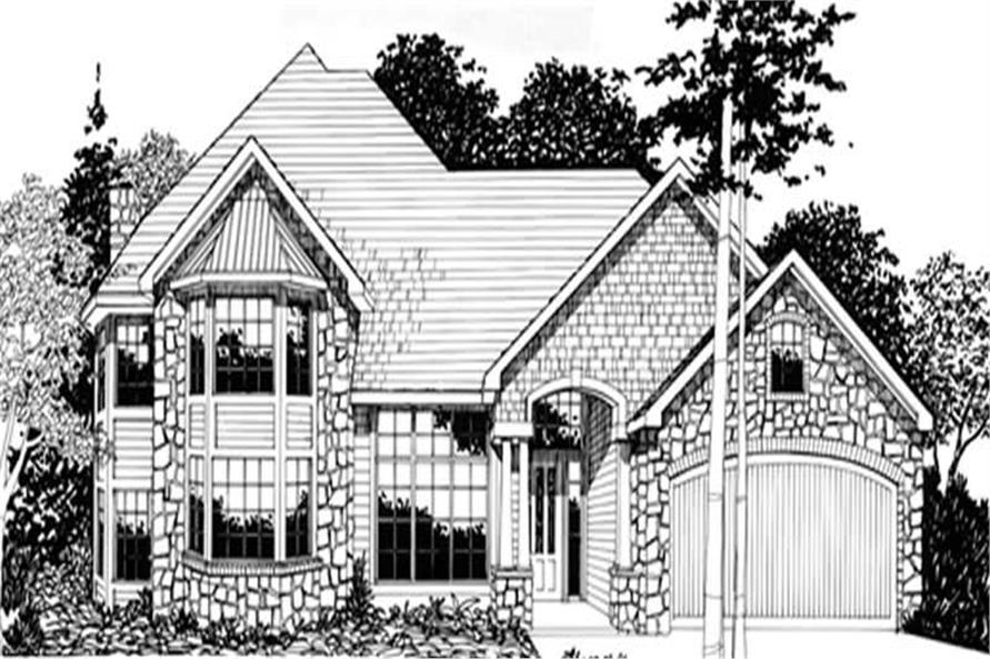 3-Bedroom, 3580 Sq Ft Country Home Plan - 149-1516 - Main Exterior