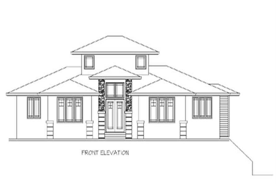 3-Bedroom, 2637 Sq Ft Prairie Home Plan - 149-1520 - Main Exterior