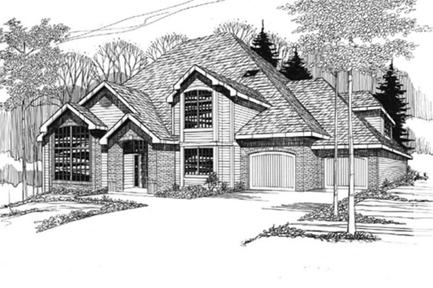 Home Plan Rendering of this 4-Bedroom,2782 Sq Ft Plan -149-1525