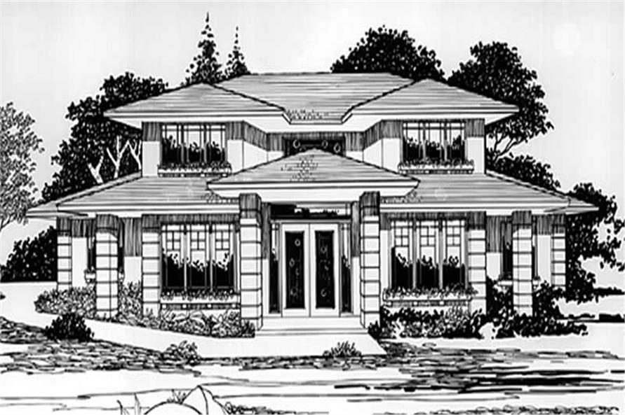 4-Bedroom, 2782 Sq Ft Prairie Home Plan - 149-1527 - Main Exterior