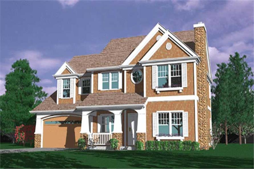 4-Bedroom, 2791 Sq Ft Country Home Plan - 149-1528 - Main Exterior