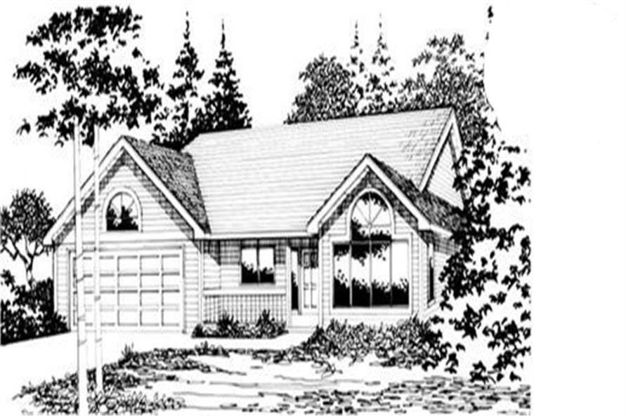 3-Bedroom, 1790 Sq Ft Ranch House Plan - 149-1530 - Front Exterior