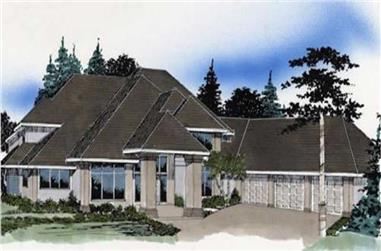 4-Bedroom, 4132 Sq Ft European Home Plan - 149-1531 - Main Exterior