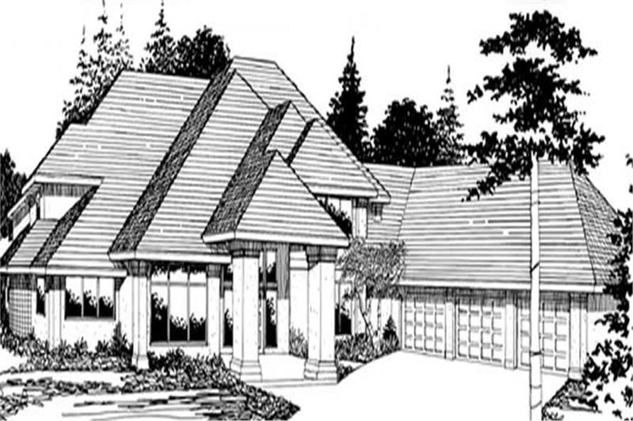 Main Elevation of this 4-Bedroom,4132 Sq Ft Plan -4132