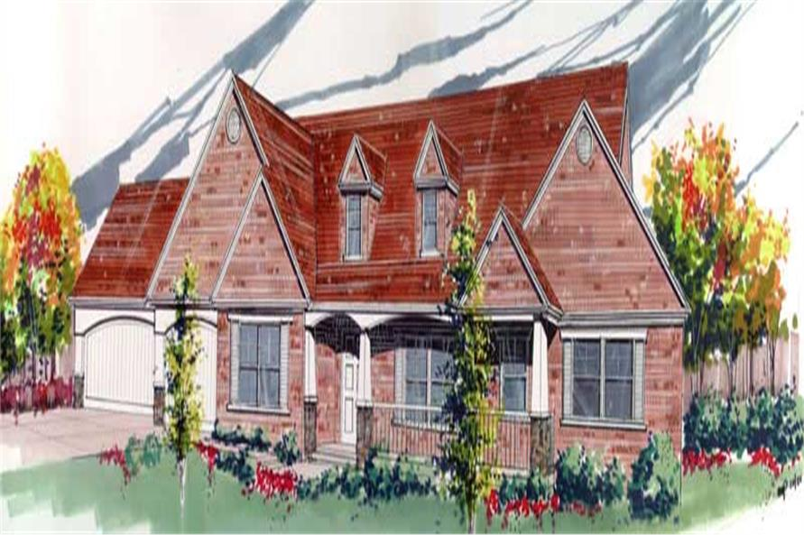 3-Bedroom, 2819 Sq Ft Country Home Plan - 149-1535 - Main Exterior