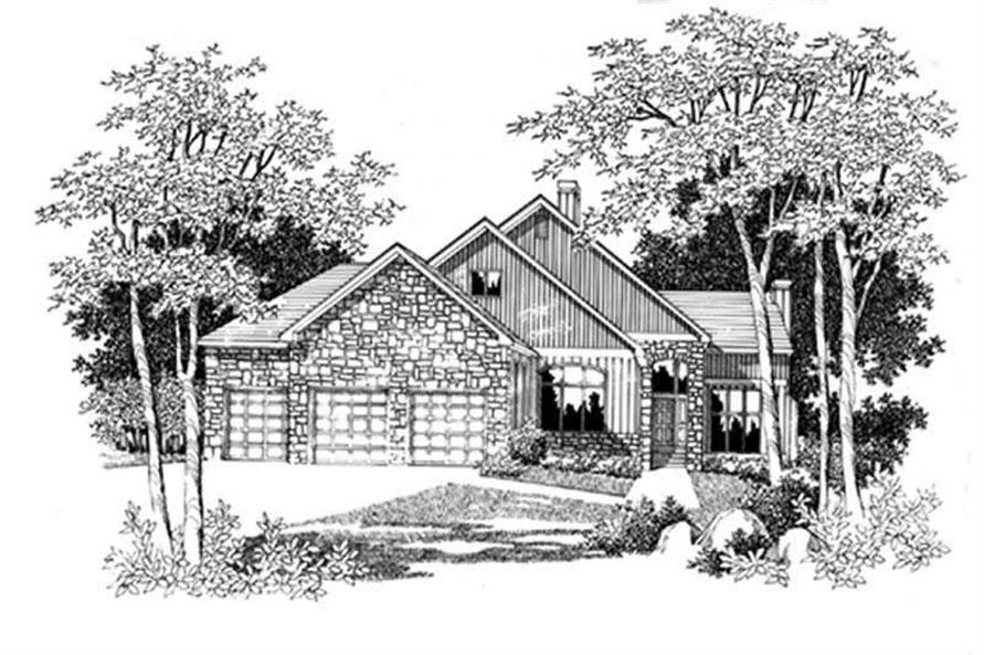 Main image for house plan # 2498