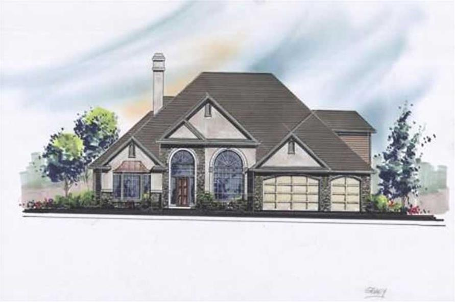4-Bedroom, 2678 Sq Ft French Home Plan - 149-1542 - Main Exterior