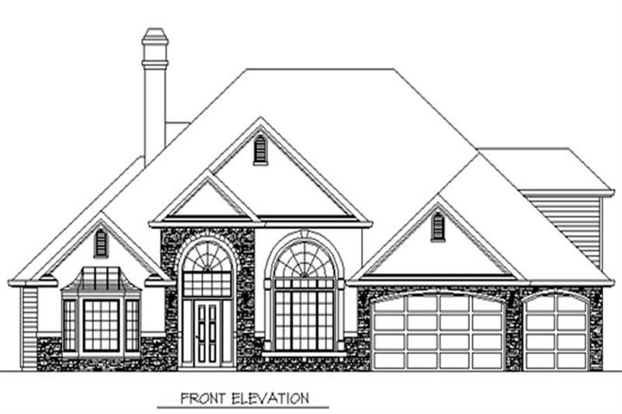 Main Elevation of this 4-Bedroom,2678 Sq Ft Plan -2678