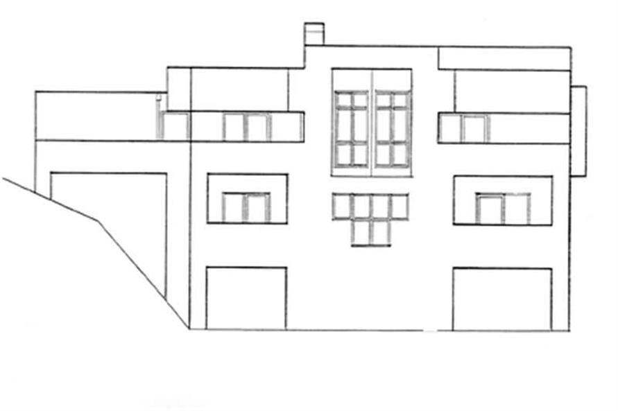 Home Plan Rear Elevation of this 3-Bedroom,2869 Sq Ft Plan -149-1543