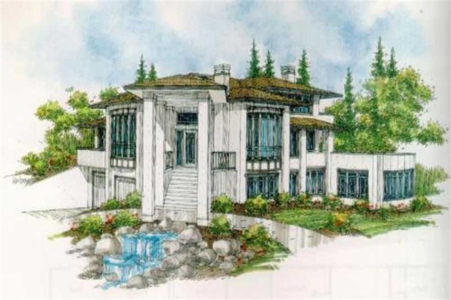 4-Bedroom, 4832 Sq Ft Contemporary Home Plan - 149-1546 - Main Exterior