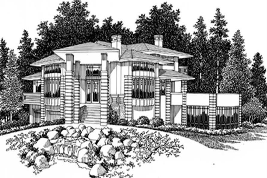 Home Plan Rendering of this 4-Bedroom,3171 Sq Ft Plan -149-1546
