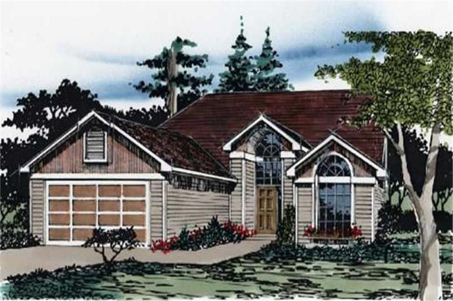 3-Bedroom, 1350 Sq Ft Feng Shui Home Plan - 149-1548 - Main Exterior