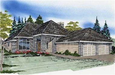 2-Bedroom, 1295 Sq Ft Ranch Home Plan - 149-1550 - Main Exterior